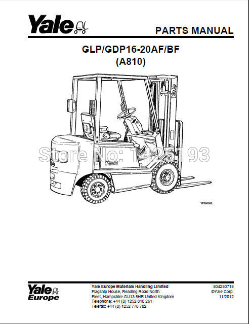 New Yale Spare Parts PDF 2017 for EURO-in Software from