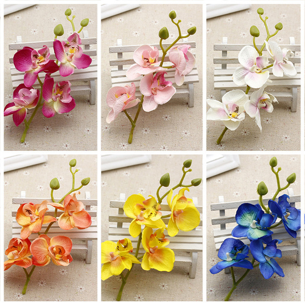 2pcs lot silk artificial orchid bouquet for home wedding for Aana decoration wedding accessories