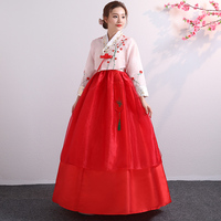 Korean Hanbok Traditional Performance Costumes For Women Elegant Hanbok Palace Korea Wedding Oriantal Dance Costume