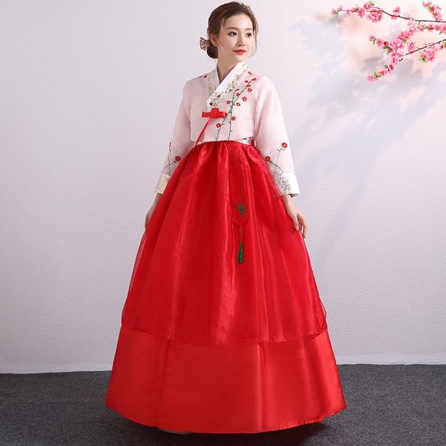b7e26931d06ec Korean Hanbok Traditional Performance Costumes for Women Elegant Hanbok  Palace Korea Wedding Oriantal Dance Costume-in Asia & Pacific Islands  Clothing from ...