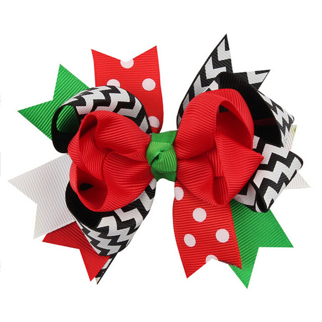 Christmas Ornaments Bowknot Hairpin Headdress Bow tie hairpin  Beautiful Accessories Suitable Apparel  #45