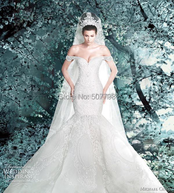234bbfa026 2016 Sheer Backless Women Marriage Clothes Vestidos De Novia Garden Formal  Mermaid Wedding Dresses Off Shoulder Ivory LacePeal-in Wedding Dresses from  ...