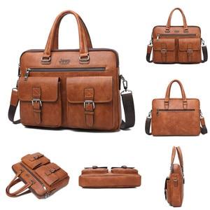 Image 4 - JEEP BULUO Famous Brand 2pcs Set Mens Briefcase Bags Hanbags For Men Business Fashion Messenger Bag 13.3 Laptop Bag 8001/8888