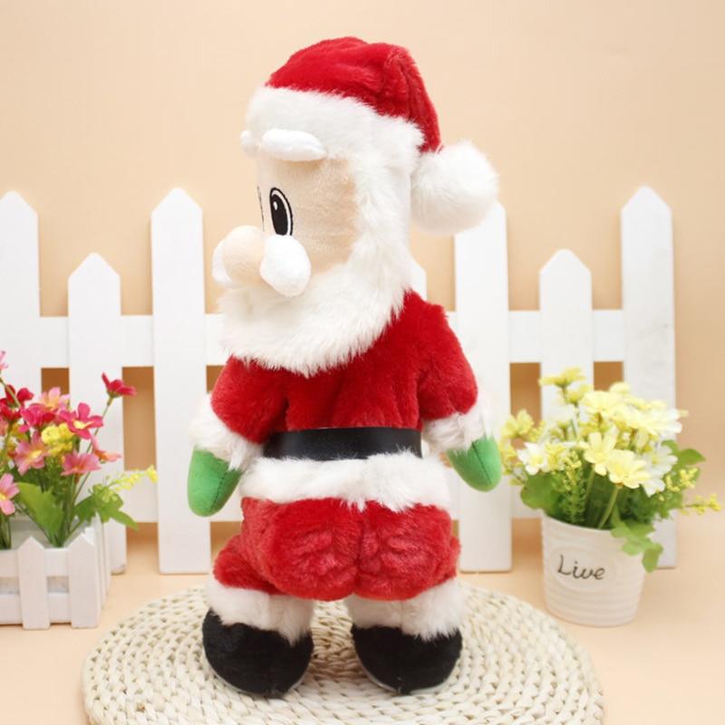 Božični električni glasbeni gugalniki zadnjice Božiček lutka - Prazniki in zabave - Fotografija 2