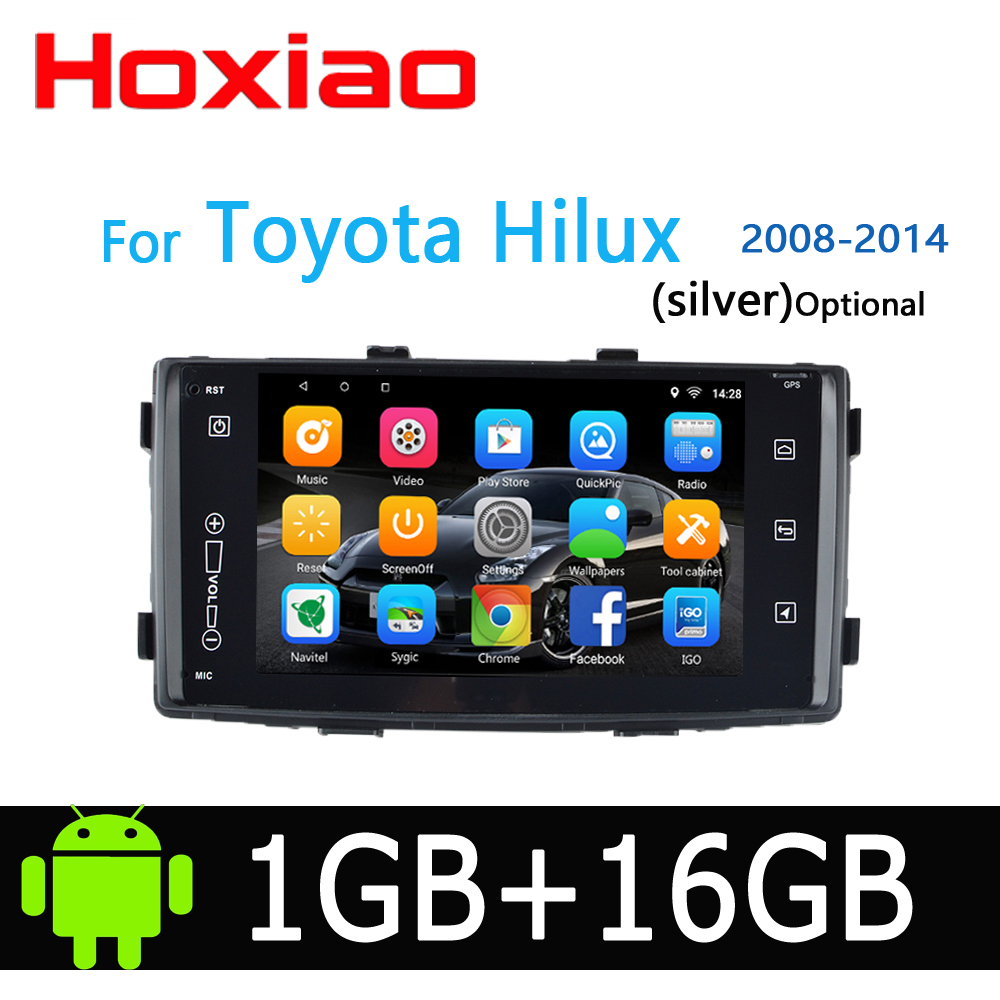 Hoxiao Android 8 1 for Toyota HILUX 2008 2014 GPS HD multimedia player map navigation WIFI