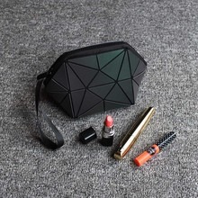 Geometric Zipper Luminous Makeup Bag
