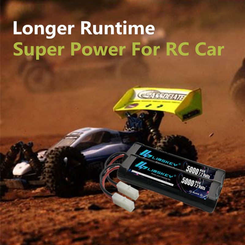 Limskey RC Battery 72V 5000mAh Ni MH High Power With Tamiya Discharge Connector For Racing Cars Boat Aircraft In Rechargeable Batteries From Consumer