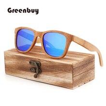 Fashion light box bamboo wood polarized sunglasses boy and g