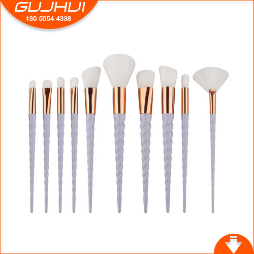 10 Unicorn Cosmetic Brushes, Spiral Thres