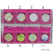 Freedom Choose 7cm Round 16 Different Patterns Folding Miroir De Maquillage Vanity Cosmetic Pocket Hand Compact Make up Mirror