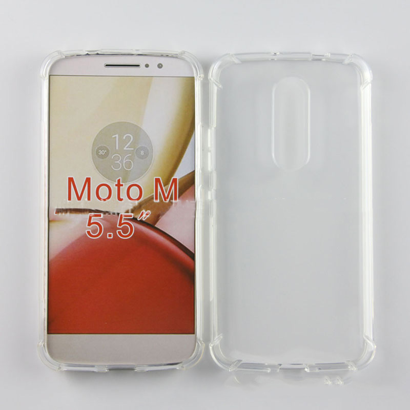 Clear TPU Airbag Phone Cover <font><b>Case</b></font> For <font><b>Motorola</b></font> <font><b>Moto</b></font> M XT1662 <font><b>XT1663</b></font> 5.5 In Soft Silicone Meaterial Protection Guard Shell image