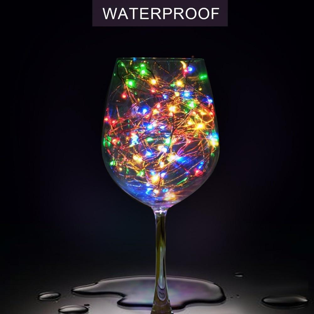 Pasaku gaismas stīgu akumulatoru darbināms USB ūdensizturīgs 2 - Brīvdienu apgaismojums - Foto 4