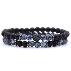 2pc/sets Natural stone Bracele