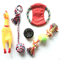 Littlest Pet Shop Dog Toys Frisbee Puppy Cotton Rope Toy Ball Pet Supplies Screaming Chicken For