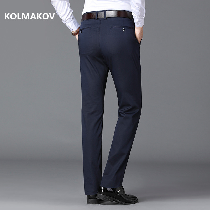 2019 New Style Autumn And Winter Men's Pants Business Long Trouser Men High Quality Classic Casual Trousers Pant Male