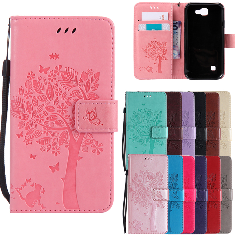 Leather case for coque <font><b>LG</b></font> K3 LTE <font><b>K100</b></font> K100DS LS450 Case Cover for coque <font><b>LG</b></font> K3 Tree Pattern Mobile Phone bags+card holder image