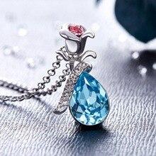 Exquisite Shiny Flower Shaped Swarovski Crystal Pendant