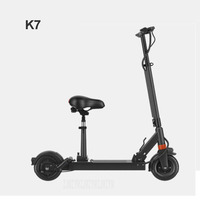 K7 500W Powerful Two wheel Smart Foldable Electric Scooter Kick Scooter Bicycle With Seat Electric Skateboard Mileage 90 110km