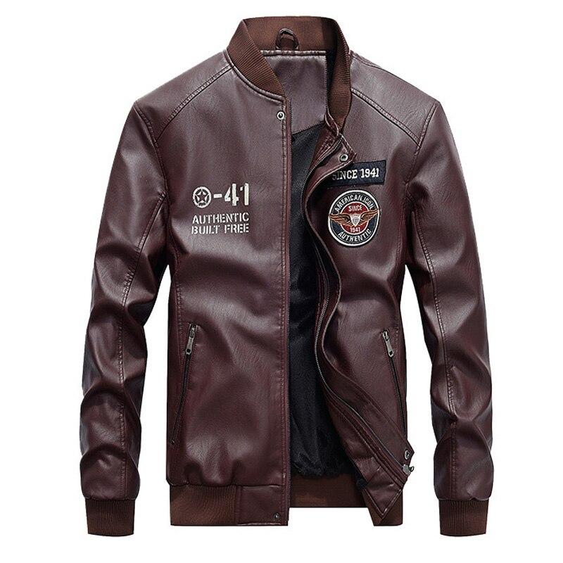Leather Jacket Men Fur Warm Motorcycle Leather Jackets Men s Winter Windbreaker Thicken Fleece Hooded Coat