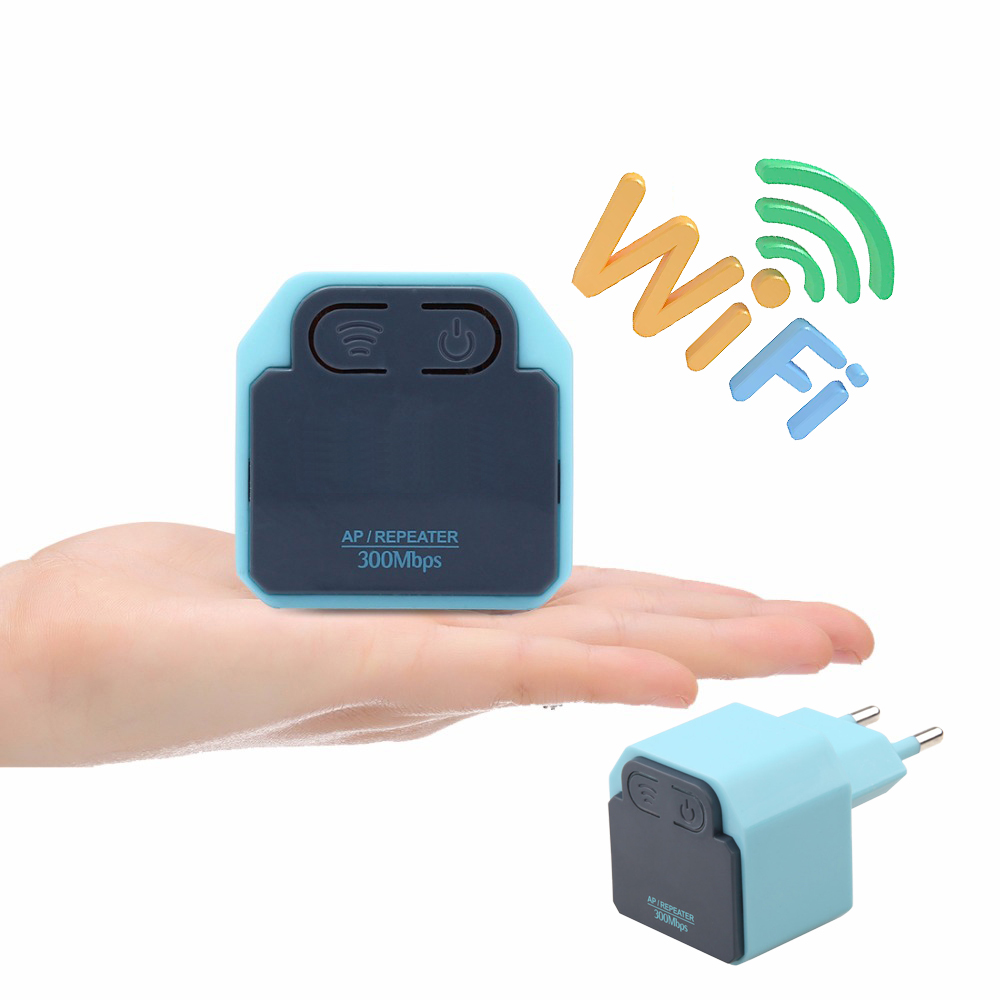 300Mbps Mini Wireless Repeater 2.4G Router Wifi Signal Amplifier Booster Wireless AP Range Extend Wifi Coverage for Home/Hotel