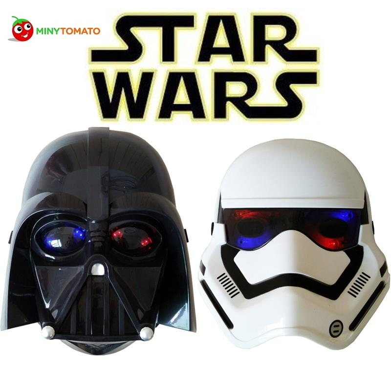 Free Shipping Star War Darth Vader Helmet Empire Soldiers Masks with Led Light Cospay Birthday Halloween