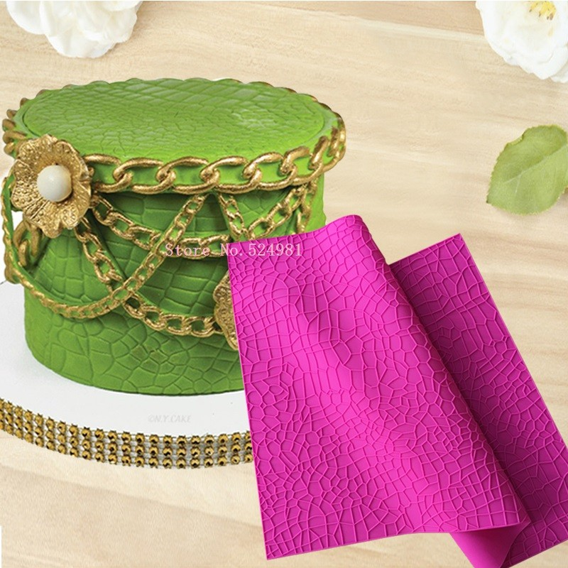 US $16 96 |Crocodile Alligator Impression Mat Cake Decoration Silicone Lace  Mould Silicone Mat Fondant Cake Tool Silicone Cake Mold-in Cake Molds from