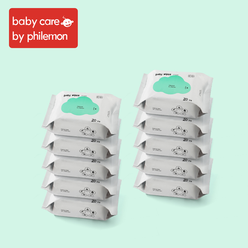 Babycare Wet Wipes Baby Hand And Mouth Wipes Without Chemical Bleach Fluroescnet Malonate Formaldehyde Thicken Cotton 10Bags/Set