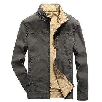 Brand Clothing Men Jacket Coat Double-wear Windbreaker Spring Autumn Mens Bomber Jackets Casual Business Coat Military Jacket