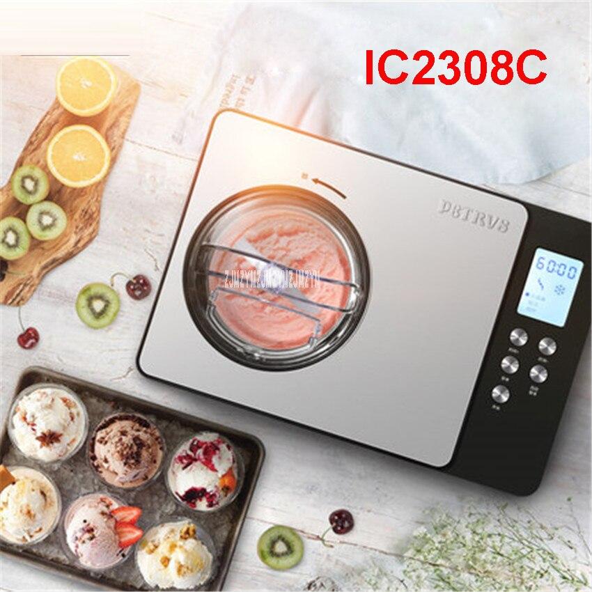 IC2308C 220V/50 Hz 1.5L Soft ice cream maker 150w Home automatic refrigeration ice cream machine children fruit ice cream Makers