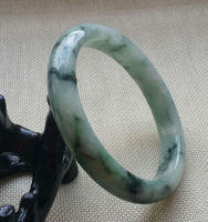 free shipping Certified Grade A Natural Green Genuine Jadeite Bracelet Bangle