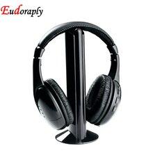 цена на Family 5 in1 HIFI wireless headphones TV/Computer FM radio earphones high quality headsets with microphone MH2001