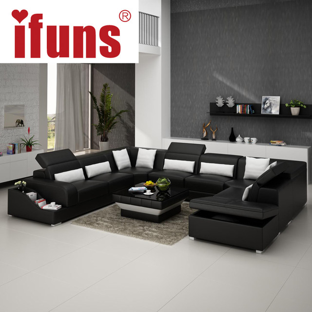 Modern Contemporary Leather Corner Sofas L Shaped Sofa Beds Regular Left Hand
