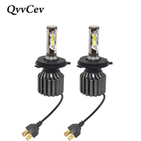 QvvCev Auto Lamp H4 LED H11 H7 H8 CSP H1 LED Car Headlight 6000K 72W High