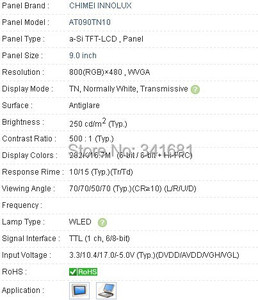 Image 3 - AT090TN10 9.0 INCH Industrial LCD,new& A+ Grade in stock,tested before shipment