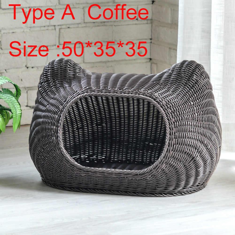 Pet ארוג מערת מיטת ארוג חיקוי נצרים לחיות מחמד בית סל מיטת עבור חתול/חתלתול/גור/כלב