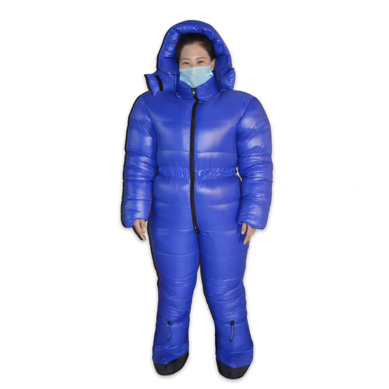 Camping & Hiking Down Professional Antarctic Arctic Expedition 2500g White Goose Down Filling Winter Down Suit Keep Warm Conjoined Down Jacket Camping & Hiking