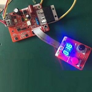 Image 2 - NY D02 100a/40a duplo pulso encoder máquina de solda a ponto tempo controlador atual painel controle placa ajustável display digital