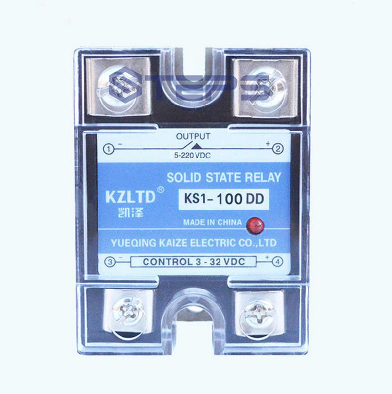 SSR DC solid state relay 100A  DC to DC non-contact relay switch 12V24V aiyima new dc 12v 24v time delay relay solid state relay ssr timer switch motor mini bump led lights time controller