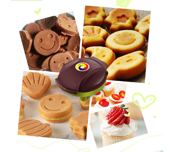 Cake machine home automatic mini electric baking pan muffin machine waffle toasted 1000w DIY Food processing equipment