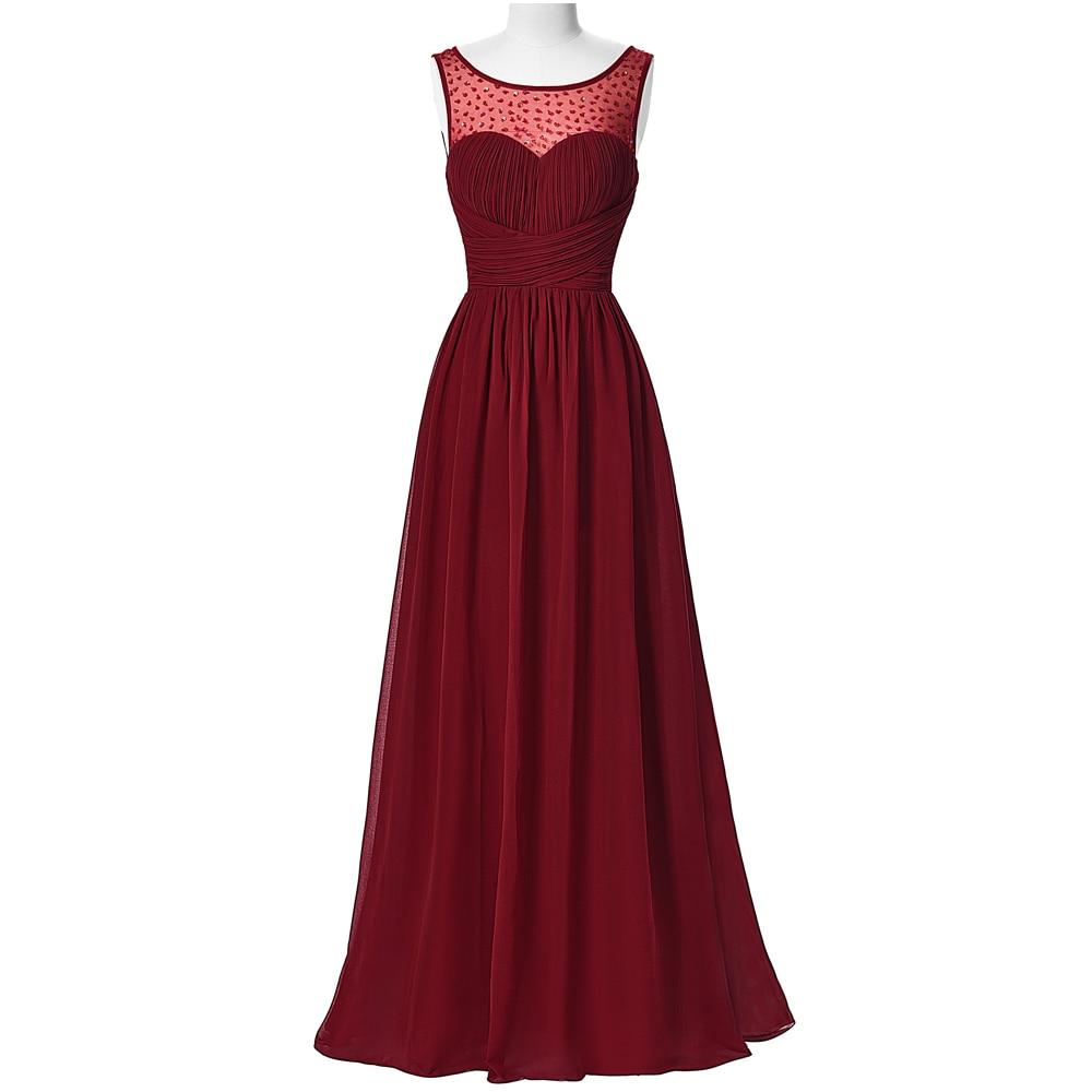 Kate Kasin Women Dresses Long Burgundy 2017 Sleeveless Dress V-Back ...