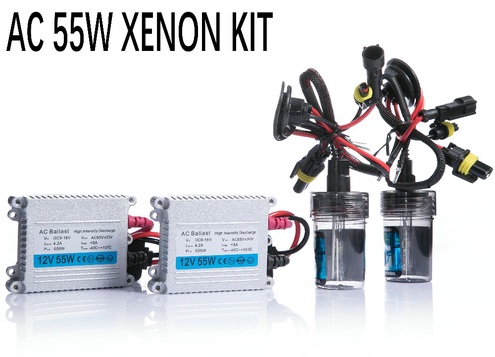 Free shipping 12V 55W hid xenon kit H1 H3 H7 H9 H11 H4 Bi xenon Hi/Low 9005 9006 D2S D2H 9012 hid kit xenon for Headlight makibes h3 55w 12v xenon hid kit car headlight xenon bulb