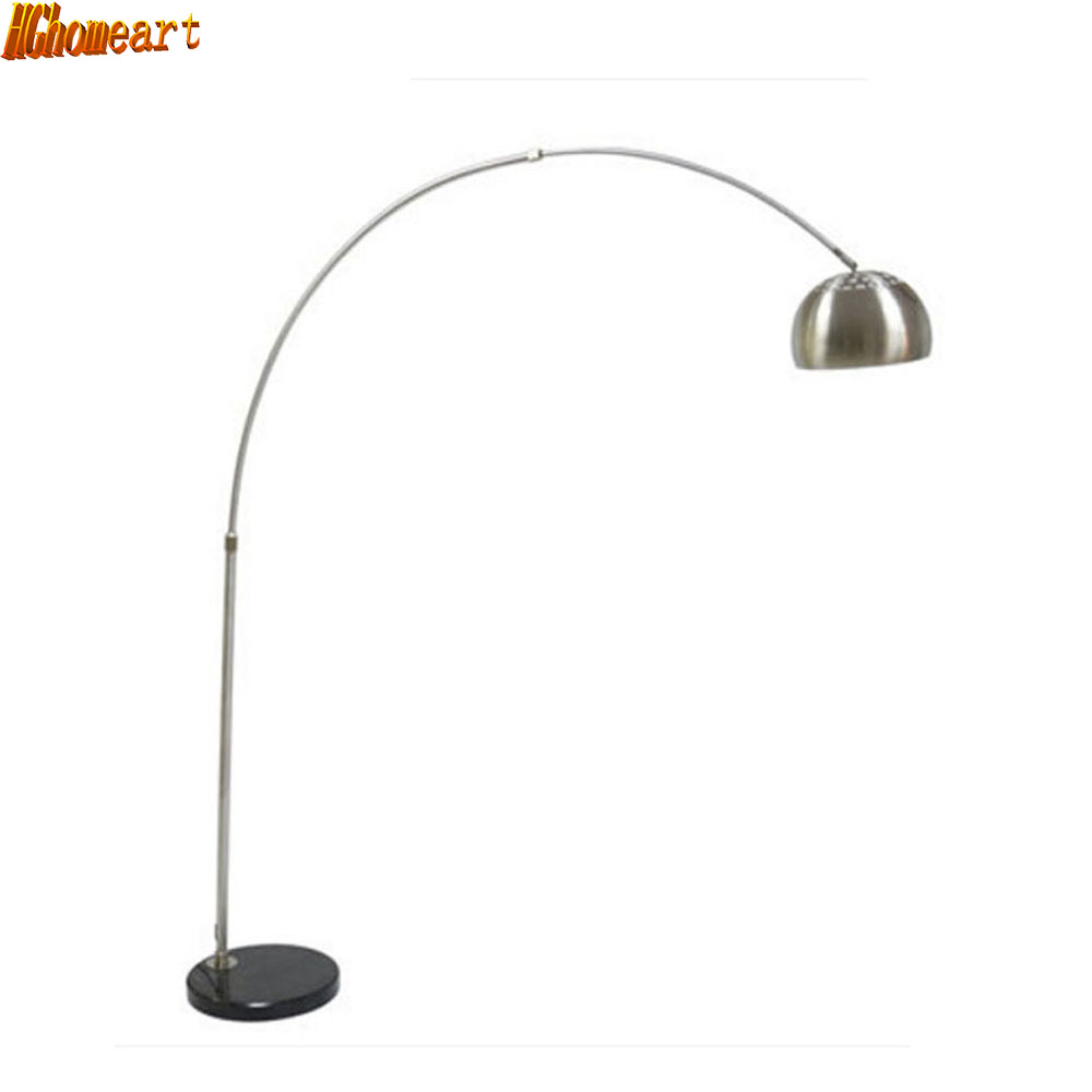 Modern Fishing Floor Lamp 110V-220V Marble Long Arm Modern Floor Lamps for Living Room E27 Foot Switch Warranty 3 Years creative foot switch fishing floor lamps modern lighting marble atmosphere lights living room study home decorative floor lamp