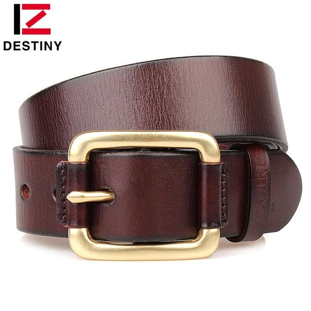 DESTIN designer ceintures hommes de haute qualité de luxe célèbre marque  mâle véritable bracelet en cuir 1bb0a5ce5de