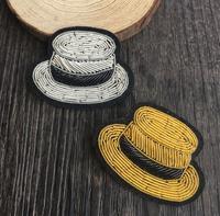 Chapeau de mode Emboridered Patch Broche Indien Soie Fil À La Main Brodé Badge Tissu Patch Vêtements De Mode BRICOLAGE Artisanat Fournir