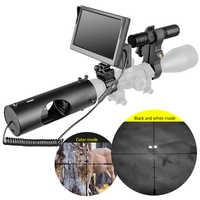 Luneta z noktowizorem lunety myśliwskie optyka wzrok wodoodporne urządzenie noktowizyjne polowanie taktyczne 850nm podczerwień LED IR