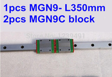1pcs 9mm linear rail guide MGN9 350mm with 2pcs mini MGN9C linear block high quality mgn9h or mgn9c block for mgn9 mr9 9mm linear guide 9mm linear rail way long linear carriage for cnc parts free