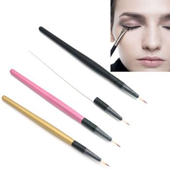 Pędzel do makijażu oczu zestaw Eyeliner pędzel do makijażu pędzel do makijażu Eyeliner kosmetyczne zestaw akcesoriów do makijażu brochas de maquillaje de alta calidad # y4 tanie i dobre opinie Włókna wełny As picture 1pcs Drewna