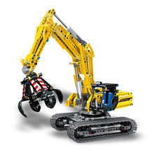 MEOA 38014 720PCS City Technic Series The Grabbing Excavator Set Building Blocks Bricks City Engineering Truck Model Kids Toys lepin 02102 city series the mining experts site set with dump truck 60188 building blocks bricks funny toys model kids gifts