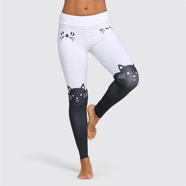9a95295098a8a Cute Cats Printed Yoga Pants Comfy Leggings Sport Women Fitness Cartoon Gym  Leggings Summer Fitness Clothing Skinny Pants 4FN