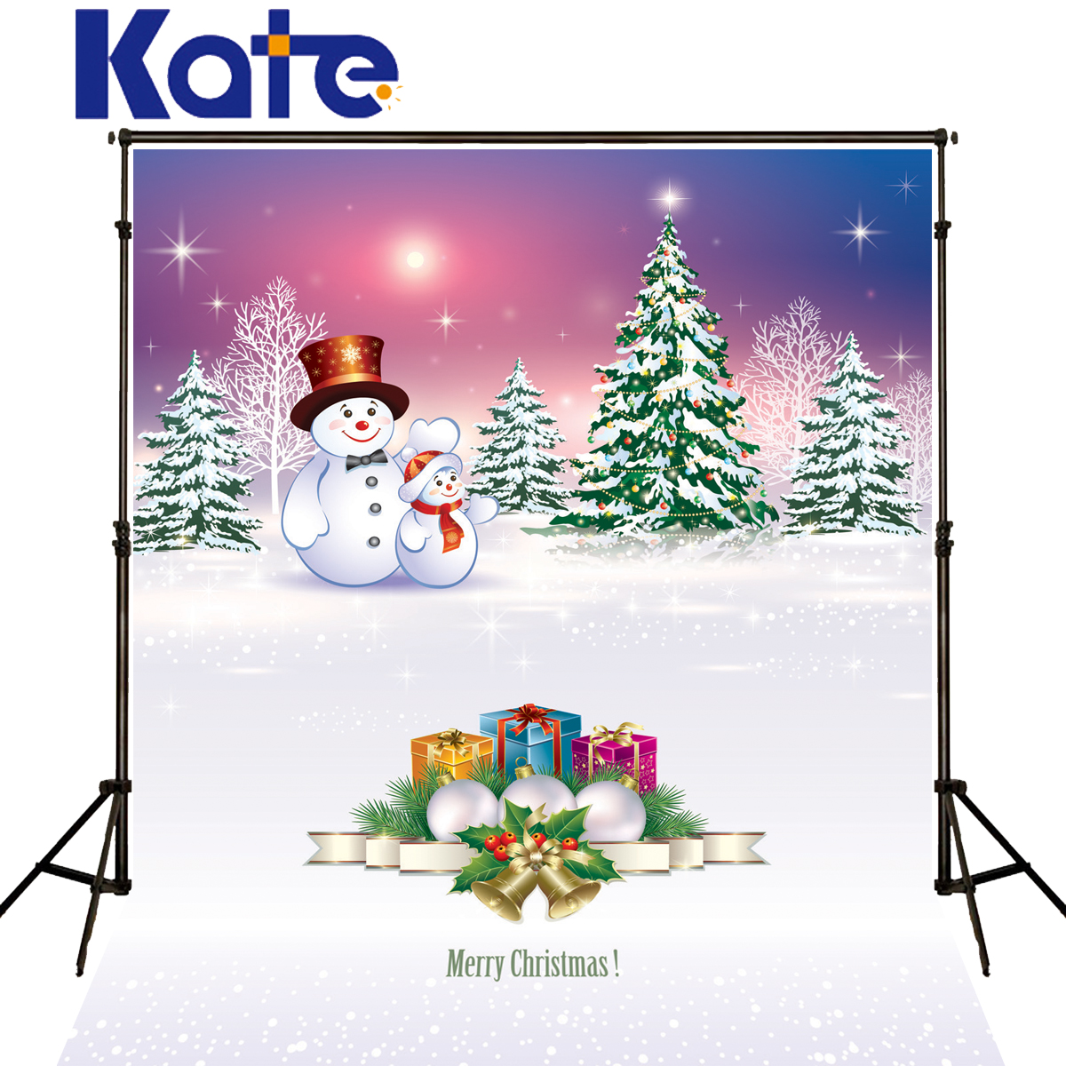 Christmas Background Gif Us 29 99 Christmas Backgrounds Snowman Gif Star Light Photocall Trees Balls Newborn Photography Props Kate Backdrops In Background From Consumer